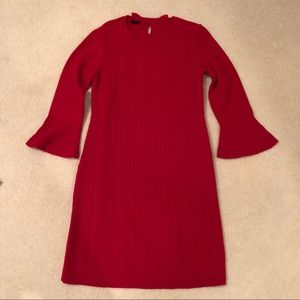 ❤️ NWT! TALBOTS RED CABLE KNIT SWEATER DRESS SZ M